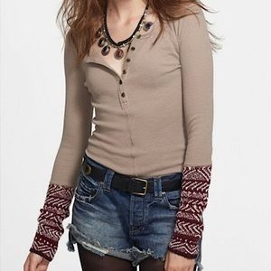 Free People Alpine Cuff Henley thermal